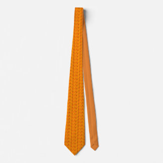 Skull pattern in orange colours tie