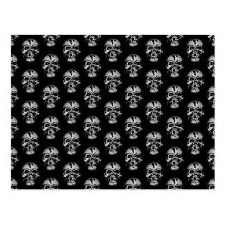 Skull Pattern Post Cards
