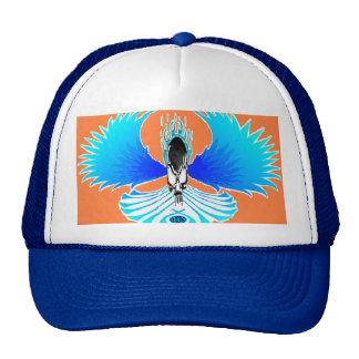 Skull Phoenix Flames Negative Orange Baseball Hat