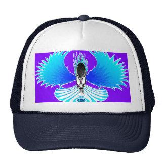 Skull Phoenix Negative Purple Baseball Hat