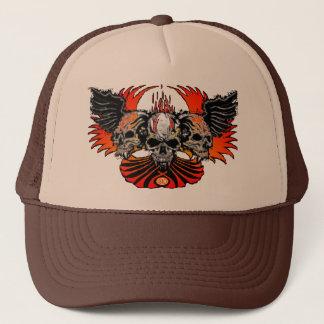 Skull Phoenix white, Trinity Winged Skulls Cap