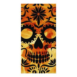 Skull Personalised Photo Card
