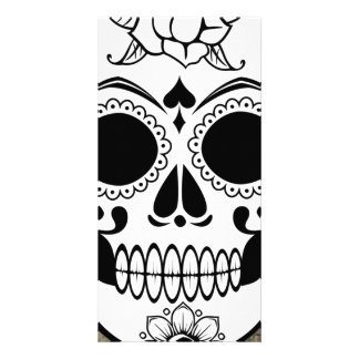 Skull Photo Card Template