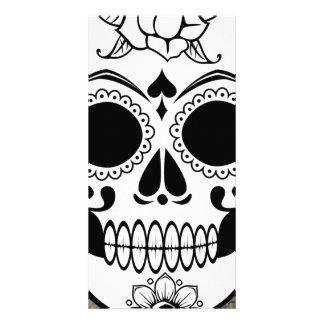 Skull Photo Card Template