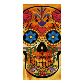 Skull Personalized Photo Card