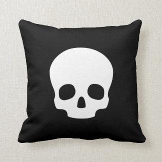 Skull Pictogram Throw Pillow