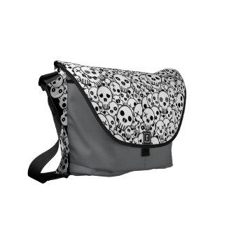 Skull Pile Courier Bag