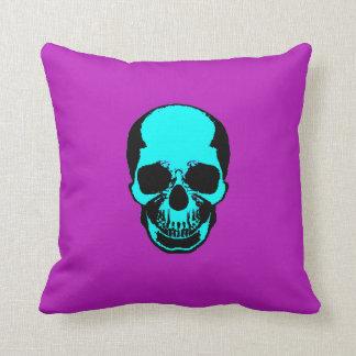 Skull Pillow - Blue Purple