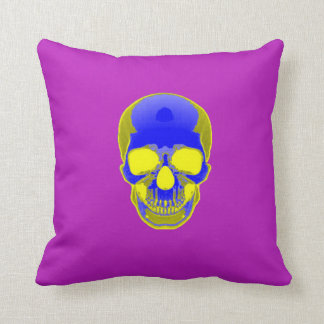 Skull Pillow - Electric Ghost