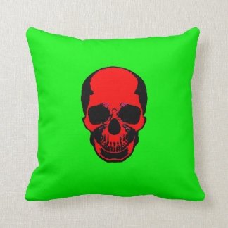 Skull Pillow - Red Green
