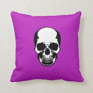 Skull Pillow - White Purple