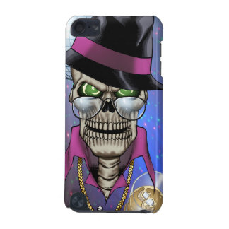 Skull Pimp with Hat, Glasses, Gold Chain and Disco iPod Touch (5th Generation) Covers