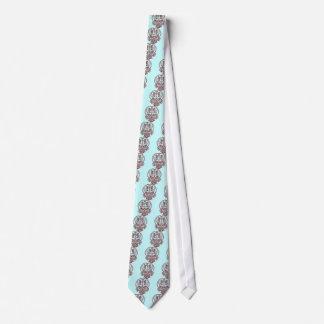 Skull Pinstriping Tie
