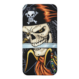 Skull Pirate with Sword and Hook by Al Rio iPhone 5 Covers