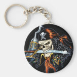 Skull Pirate with Sword and Hook by Al Rio Keychains