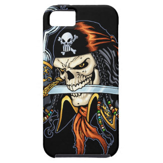 Skull Pirate with Sword and Hook by Al Rio Tough iPhone 5 Case