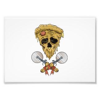 skull pizza slice. photo