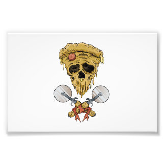 skull pizza slice. photo print