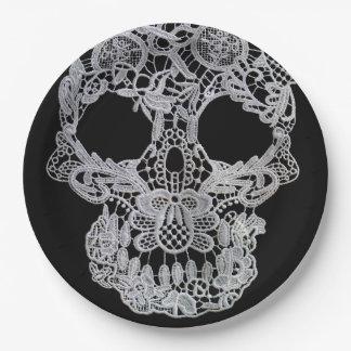 Skull plates. paper plate