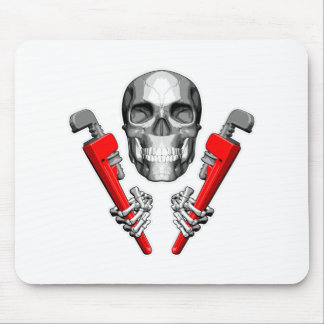 Skull Plumber: Pipe Wrenches Mouse Pad