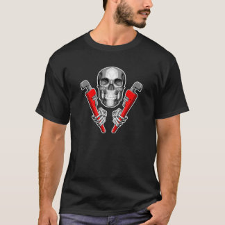 Skull Plumber: Pipe Wrenches T-Shirt