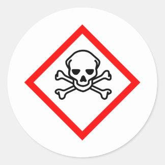 Skull Poison Round Sticker