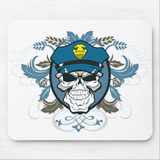 Skull Police Officer Mouse Mat