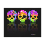 SKULL POP ART Gallery Wrapped Canvas
