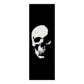 Skull Poster - Black & White Fantasy Artwork