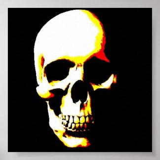 Skull Poster Print - Fantasy Punk Rock Pop Art