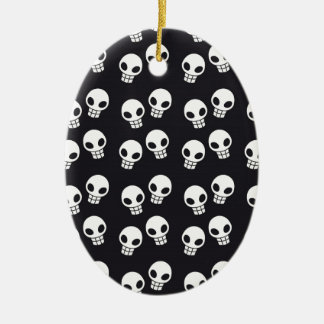 Skull Print Christmas Ornament