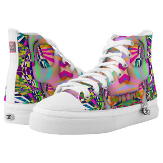 skull printed shoes