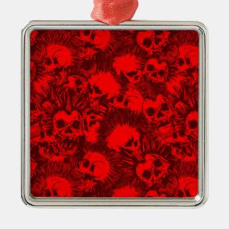 skull punk christmas ornament