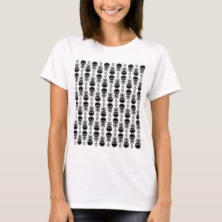 Skull Rattle Pattern Lady T-Shirt