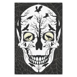 Skull & Ravens Wrapping Paper Tissue