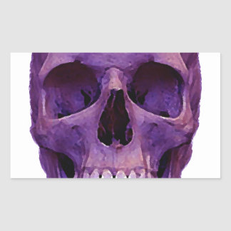 Skull Rectangular Sticker