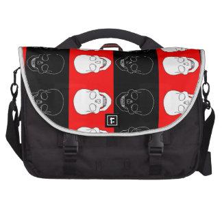 skull red and black laptop commuter bag