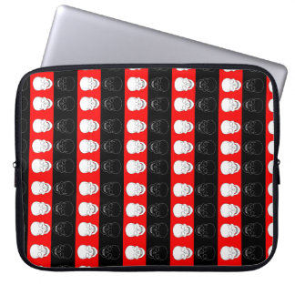 skull red and black laptop sleeve