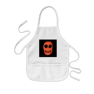 Skull Red and black. Primitive Style. Apron
