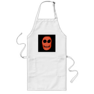 Skull Red and black. Primitive Style. Long Apron