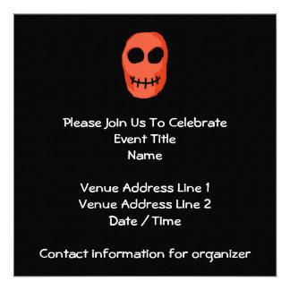 Skull Red and black Primitive Style Personalized Invite