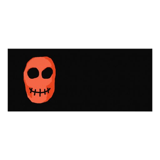 Skull Red and black. Primitive Style. Announcement