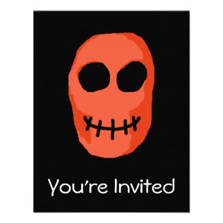 Skull Red and black Primitive Style Custom Announcements