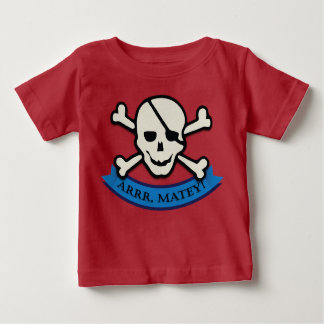 Skull - Red Baby Fine Jersey T-Shirt