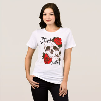 skull red rosed thejudged womens tee shirt