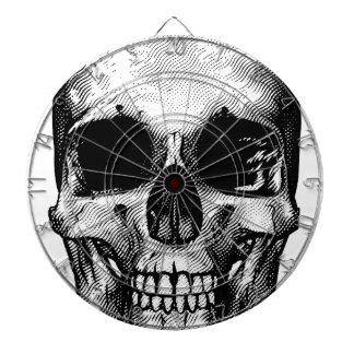 Skull Retro Style Drawing Dartboards