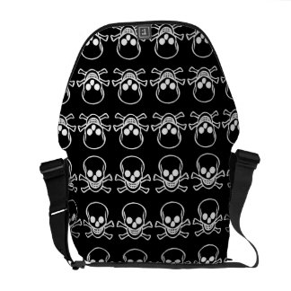 skull Rickshaw Messenger Bag