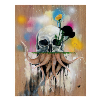 Skull Roots Poster