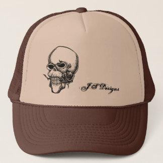 skull & rose hat