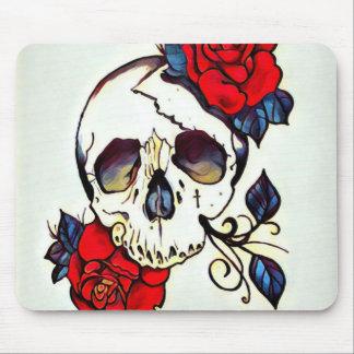 skull rose mousepad
